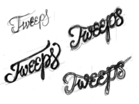 Tweeps Sketches lettering