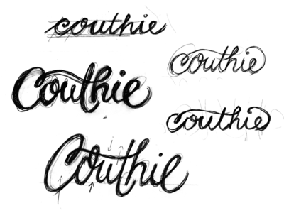 Couthie Sketches lettering