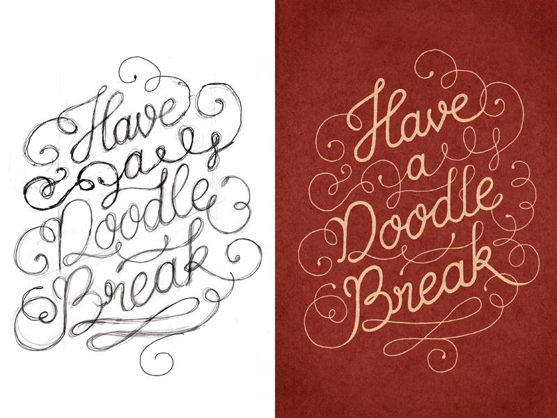 Doodle Break – Sketch and final lettering