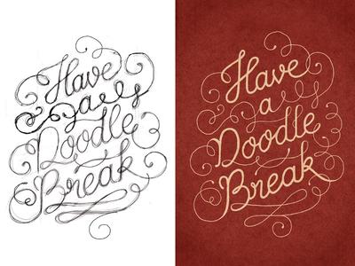 Doodle Break – Sketch and final