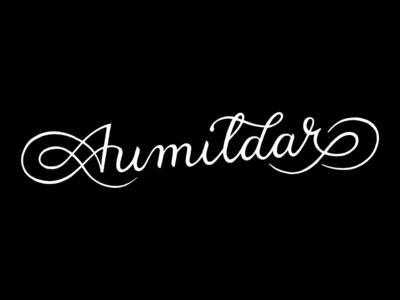 Aumildar lettering