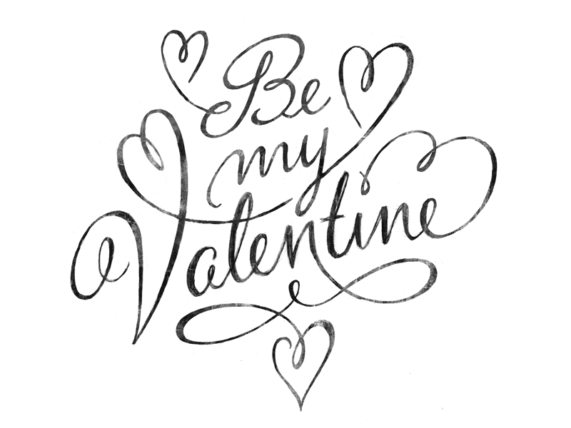 be my valentine sketch wip by eva lotta lamm dribbble dribbble
