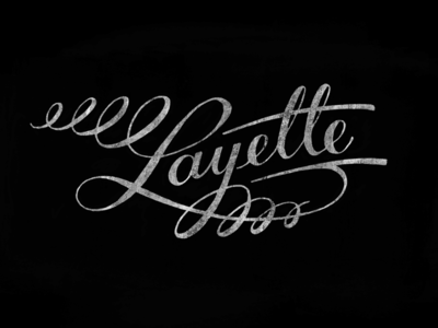 Layette lettering