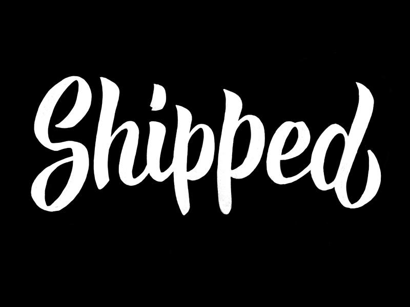 Shipped lettering brush
