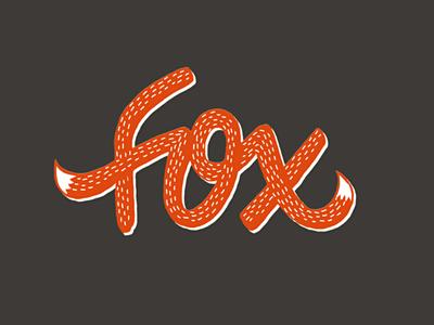 Fox lettering