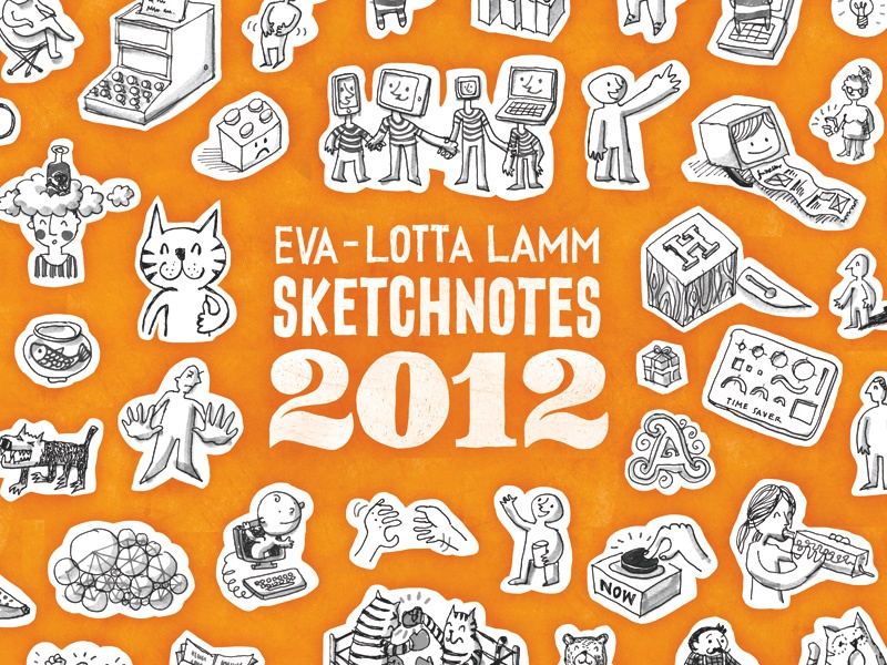 Sketchnotes 2012 – Cover sneak peek sketchnotes illustration book