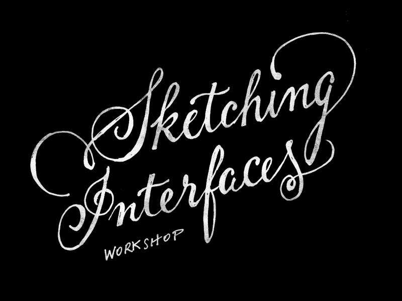 Sketching Interfaces doodle sketching ui interface workshop