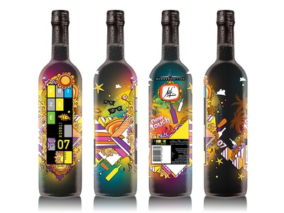 Frizzé Label 2012 wines label graphic design contest summer packaging.
