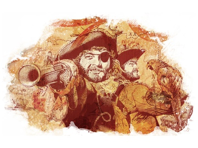 Illustration illustration pirates photoshop.