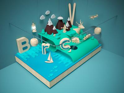 Brc art direction bariloche cinema4d 3d