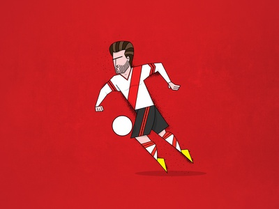 23 football player drawing illustration