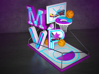 MVP photoshop vray cinema4d basketball art direction 3d