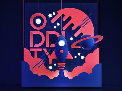 Rocket c4d space rocket launch vray art direction 3d