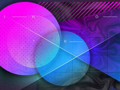Intro transparency texture background circle intro design shapes illustration photoshop geometric