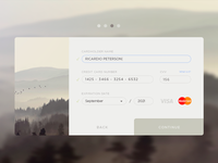 Credit Card Form. PSD attached.
