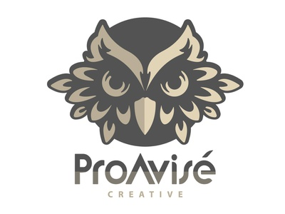 Logo Creation — ProAvisé Creative logotype vector graphic creative logo mark gold owl adobe illustrator illustration logo