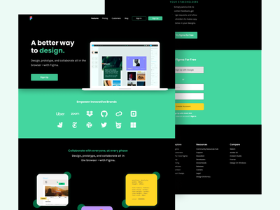 Figma Homepage Redesign Exploration ui design clean landingpage webdesign