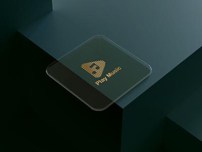 Play Music Logo Design vector minimal logo graphic design illustrator illustration icon flat branding art