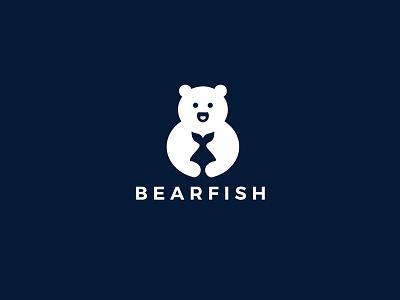 Bear Logo Design art illustrator animation vector minimal logo illustration graphic design flat branding brand identity