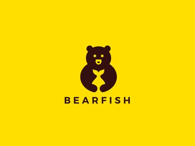 Bear logo design yellow design vector icon minimal logo illustrator illustration graphic design flat branding
