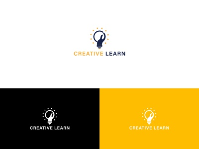 Creative learn logo web app icon brand identity vector logo graphic design minimal branding illustrator