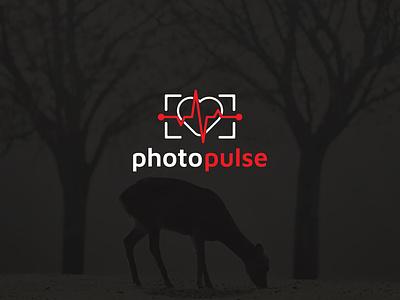 Photo pulse logo illustrator logodesign branding brand identity vector icon flat minimal logo graphic design