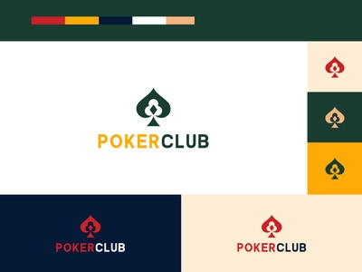 Poker Branding logo logodesign flat icon vector art brand identity minimal logo graphic design branding