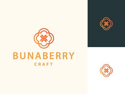 Bunaberry craft logo custom logomark vector professional logo maker unique logo-design ui logo design minimalist luxury design illustration illustrator icon flat minimal logo graphic design branding