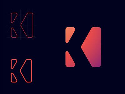 K Letter logo geometric business logo unique custom logo modern logo creative professional brand identity design logo designer flat logo minimal logo logo design design illustrator icon flat minimal logo graphic design branding