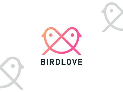 Birdlove brand identity unique logo design logo maker logo designer modern logo creative logo icondesign bird love creative logodesign branding illustration flat minimal logo graphic design illustrator icon