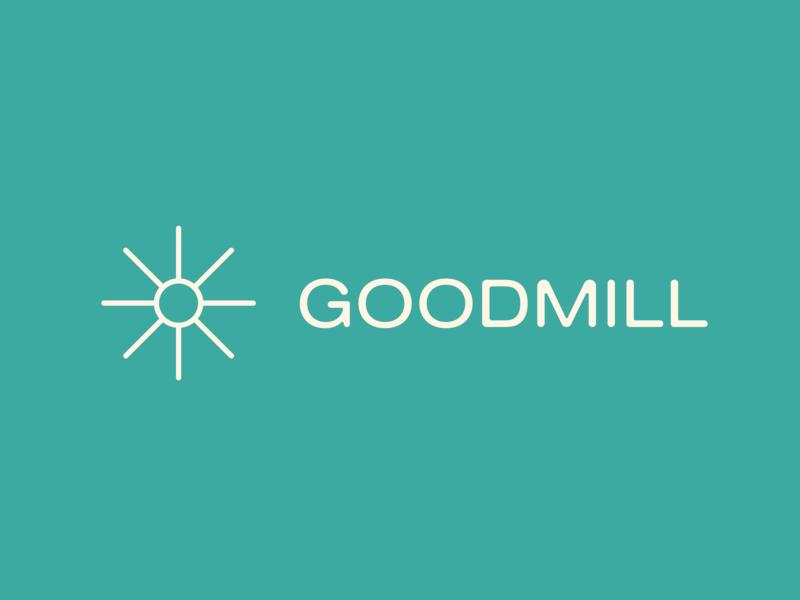 Goodmill logotype / sun nature simple minimal logo