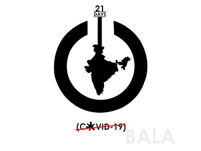Shutdown - India covid-19 shutdown india design illustration logodesign graphic design typography