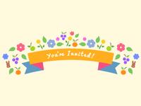 Floral Bunny Invite