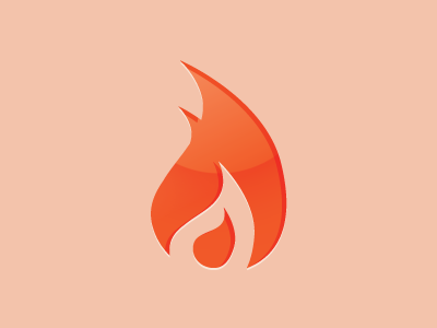 Flame dribbble