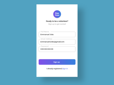 Sign up Page #DailyUI