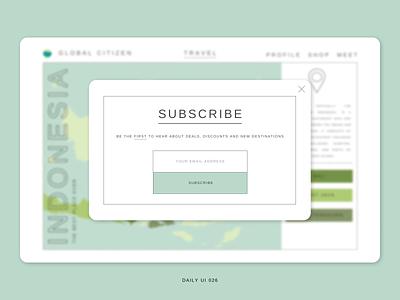 Daily UI 026 - Subscribe web minimal ux design ux ui design ui design dailyuichallenge daily ui 001 daily ui