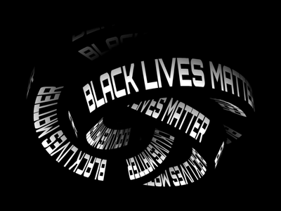 Black Lives Matter 3d animation type animation loop animation black and white loop blacklivesmatter blm