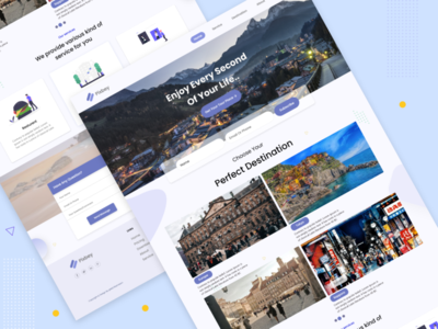 Travel Agency Landing Page website design web material design ui ux icon