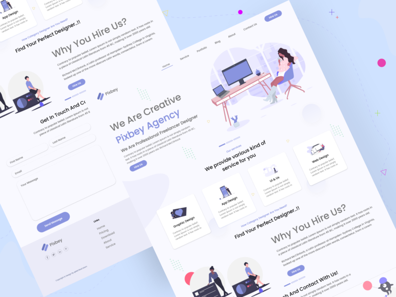 Agency Landing Page design website web icon material design ux ui
