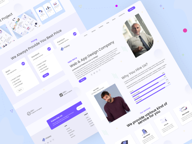 Online Work Agency Landing Page