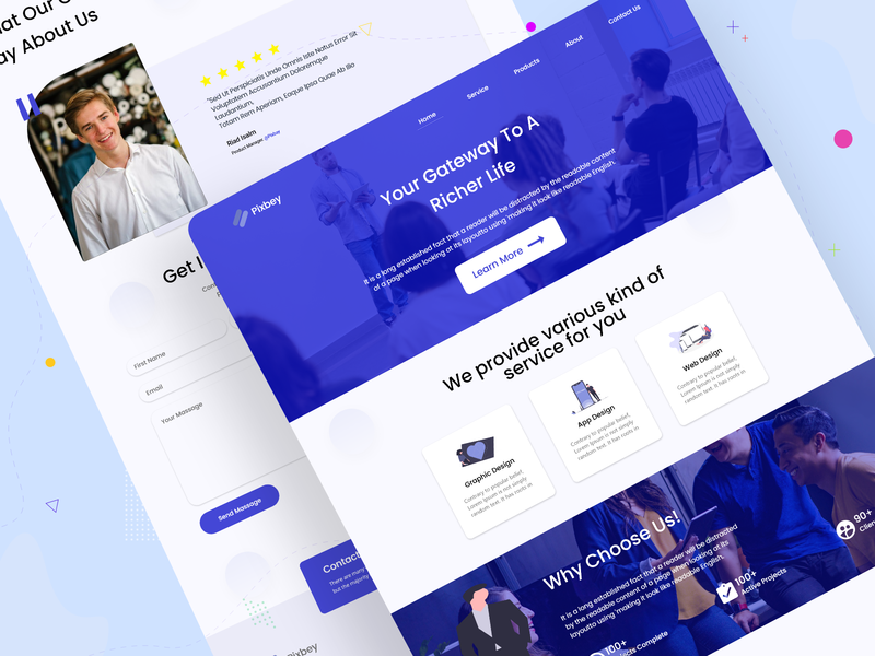 Online Agency Web Landing Page