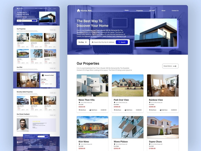 Real Estate Agency Web Landing Page
