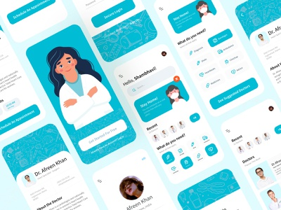 Doctor Appointment App ui design app ui healthcare clinic patient medicine medical hospital doctor appointment doctor app salmanwap minimal