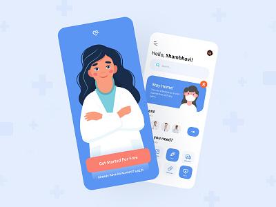 Doctor Appointment App doctor app doctor appointment hospital medical medicine patient clinic healthcare app ui ui design salmanwap minimal
