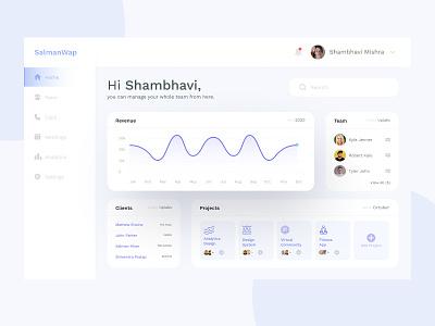 🎁 Freebie: Management Dashboard minimal salmanwap figma web dashboard management team dashboard ui statistics stats analytics admin chart freebie dashboard
