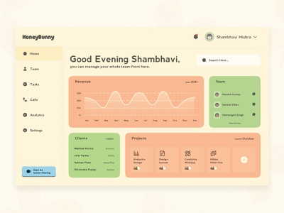 Colorful Dashboard kawaii cute ui colorful dashboard u team management analytics management team dashboard ui design minimal salmanwap