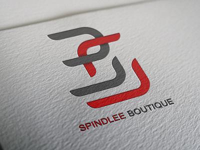 Spindlee Boutique Logo design illustration photoshop logo