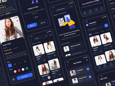 Veshion UI Kit app ux ui illustration design