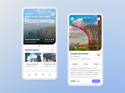 Travel Apps explorations ui design app