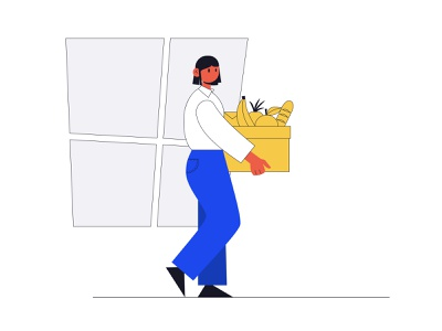 illustration for a food delivery app website flat vector ux minimal illustration explorations ui design app